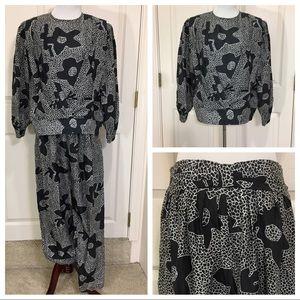 Vintage renzo realli silk pantsuit
